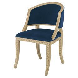 Mr. Brown Pearl Chair Regency Ash Wave Chair - Harbor Blue Velvet
