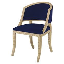Mr. Brown Pearl Chair Regency Ash Lapis Blue Velvet Wave Chair