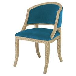 Mr. Brown Pearl Chair Regency Ash Teal Velvet Wave Chair