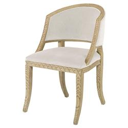 Mr. Brown Pearl Chair Regency Ash Wave Chair - Snow White Velvet
