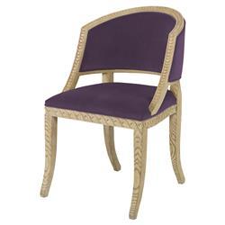 Mr. Brown Pearl Chair Regency Ash Wave Chair - Purple Thistle Velvet