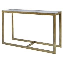 Mr. Brown Horne Global Flat Gold Marble Console Table