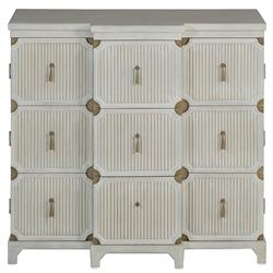 Eastham Coastal White Vintage Trunk Dresser