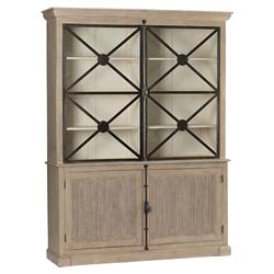 Boone French Country Grey Iron Wood Cabinet
