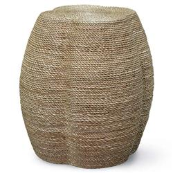 Palecek Wrapped Rope Coastal Beach Natural Rope Quatrefoil Stool Side End Table