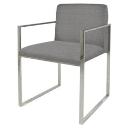 Palecek Atlantic Modern Classic Stainless Steel Grey Armchair