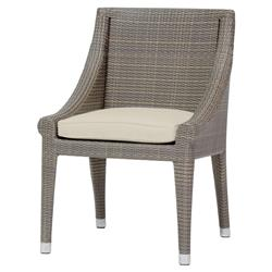 Signe Coastal Modern Faux Rattan Salt Outdoor Chair
