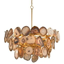 John-Richard Zasu Global Bazaar Sliced Agate Tiered Pendant