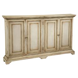 John-Richard Reynaud French Country Antique Linen Tall Door Cabinet
