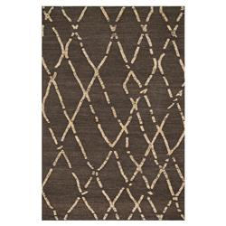 Leila Global Cross Hatch Brown Flat Weave Rug - 3'6x5'6