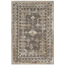 Fatuma Global Bazaar Rustic Aztec Grey Wool Rug - 3'6x5'6