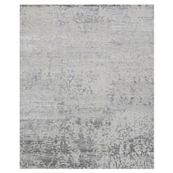 Olvin Hollywood Antique Grey Distressed Pattern Rug - 5'6x8'6