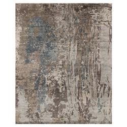 Tisa Modern Classic Canyon Grey Teal Marbled Rug - 2x3
