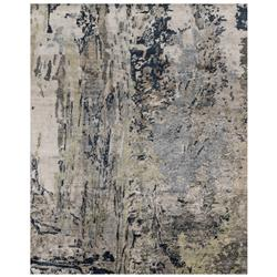 Tisa Modern Classic Canyon Navy Grey Marbled Rug - 2x3