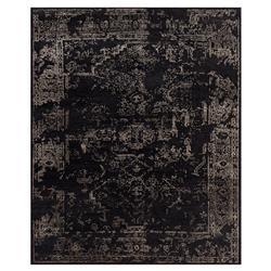 Tash Global Charcoal Antique Traditional Wool Silk Rug - 2x3