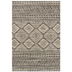 "Loloi Emory Global Bazaar Charcoal Ivory Aztec Patterned Rug - 3'10""x5'7"""