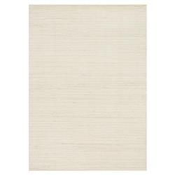 "Belinda Modern Classic Ivory Ridge Wool Solid Rug - 3'6""x5'6"""