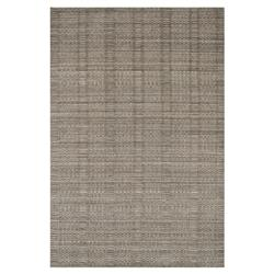 "Harpa Modern Classic Stone Grey Pattern Pile Wool Solid Rug -3'6""x5'6"""