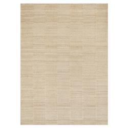 Asmina Modern Natural Beige Dash Pile Wool Rug -3'6x5'6