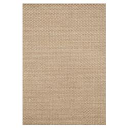 "Dottie Modern Beige Sand Wool Dot Raised Pile Solid Rug - 3'6""x5'6"""