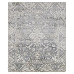 Fae French Antique Wash Slate Grey Bamboo Silk Rug - 4' x 6'