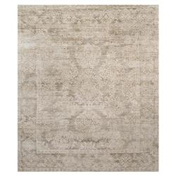 Fabian French Antique Wash Taupe Bamboo Silk Rug - 4' x 6'
