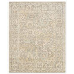 Fatime French Antique Wash Dune Grey Bamboo Silk Rug - 4' x 6'