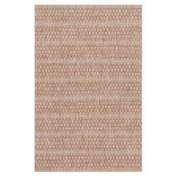 """Tulum Global Rust Red Beige Pattern Outdoor Rug - 3'11""""x5'10"""""""