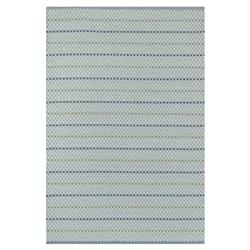 Palapa Coastal Blue Green Isle Stripe Outdoor Rug - 3'6x5'6
