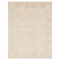Valle French Antique Mist Wash Blue Flora Wool Rug - 4x6