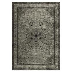 Thames Industrial Loft Silver Grey Storm Rug - 3'3x5'3 | Kathy Kuo Home