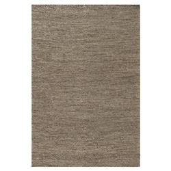 "Kaya Coastal Beach Brown Stone Flat Wool Rug - 3'6"" x 5'6"""