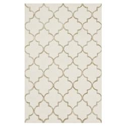 Casa Regency Modern Ivory Trellis Wool Rug - 3'6x5'6