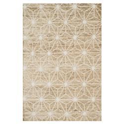 Nodo Coastal Beige Star Jute Wool Rug - 4'x6'