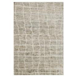 Robar Industrial Rustic Grey Birch Jute Wool Rug - 4x6
