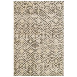 Makena Global Bazaar Sand Grey Boho Rug - 4' x 6'