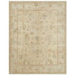 Forrest French Antique Tan Stone Wool Rug - 4' x 6'