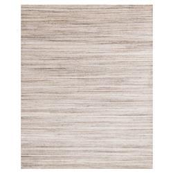 Sara Modern Mocha Brown Stria Bamboo Wool Rug - 4x6