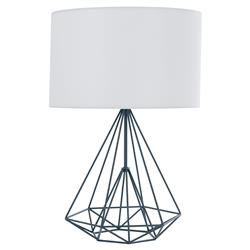 Meridian Industrial Loft Cage Metal Black Table Lamp - Large