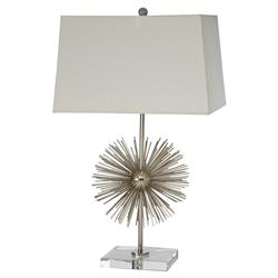 Sonny Modern Classic Silver Sunburst Table Lamp | Kathy Kuo Home