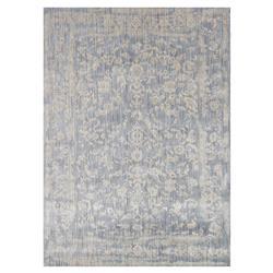 Mina Hollywood Regency Powder Blue Scroll Rug - 7'10x10'10