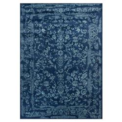 Mina Hollywood Regency Aqua Navy Scroll Rug - 3'7x5'7
