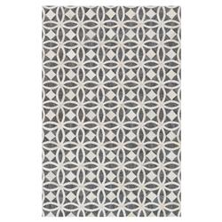 Wylie Rustic Charcoal Ivory Hide Medallion Rug- 5' x 7'6