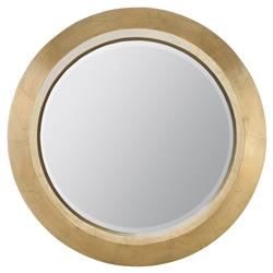 Crawford Regency Gold Leaf Round Wall Mirror