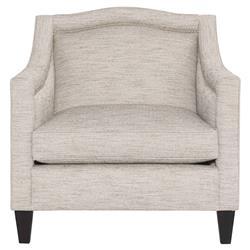 Susan Modern Classic Heathered Arch Nailhead Trim Club Arm Chair