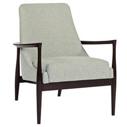 Ethel Mid Century Blue Diamond Weave Arm Chair