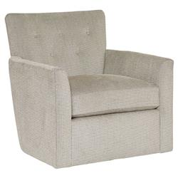 Tawney Modern Classic Grey Lattice Dot Swivel Armchair