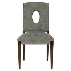 Lance Modern Classic Grey Oval Cut Out Side Chair