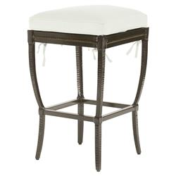 Jane Modern French Metal White Outdoor Counter Stool