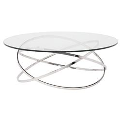 Savannah Modern Classic Steel Glass Round Coffee Table